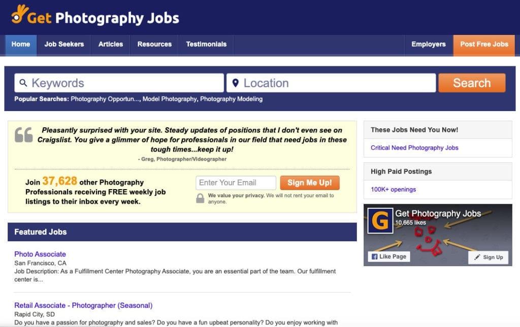 Getphotographyjobs.com
