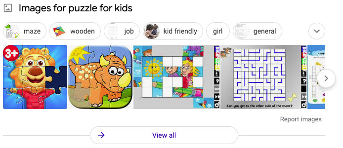 Google featured images