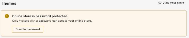Shopify theme password protect