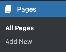 Add pages to ordPress