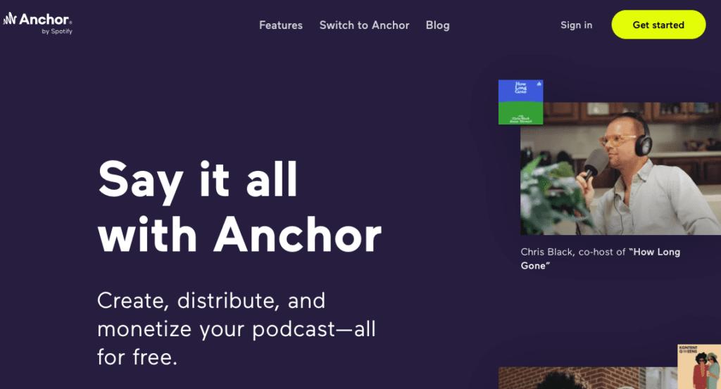 Anchor podcast hosting